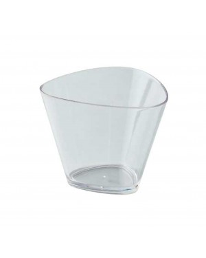 Soft Angle Dessert Cup With Lid 175ml - 1pc